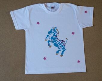 Hand painted children's cotton T-Shirt.
