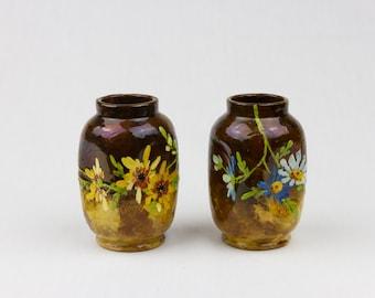 Vintage Vases Flower Vase Hand-Painted Home Decor Flower Pattern Design