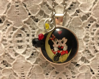 Mickey and Minnie Charm Necklace/Mickey Mouse Necklace/Minnie Mouse Necklace/Mickey Mouse Jewelry/Minnie Mouse Jewelry