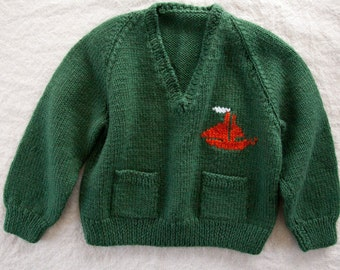 Vintage Kids Sweater, Size 12-18 month