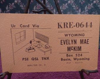 Vintage CB Radio postcard