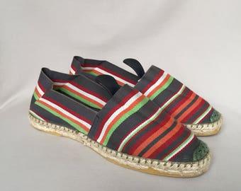 Espadrilles / slides / summer shoes / flats / slip ons / canvas shoes / handmade espadrilles / slip on shoes / made in France