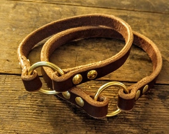 Leather Dog Collar / Leather ID Collar / Dog Collar / Custom Leather Collar