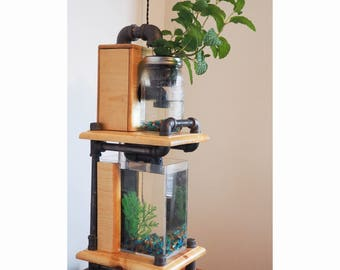 Aquaponic System, Indoor Planter Garden, Live Plants, Aquarium Decoration, Herb Garden Kits, Herb Gardens, Gardening Kit, Indoor Herb Garden
