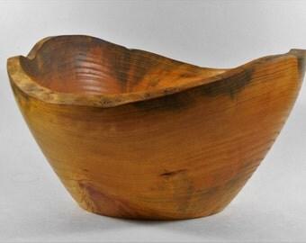 natural edge pine bowl