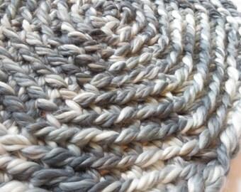 GrayMulti*Crocheted*Rug