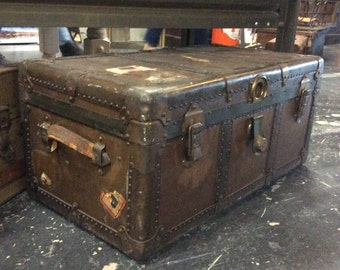 Vintage 1908 Luggage Trunk