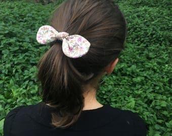 Narzisse- Orange Floral Mini Hair Bow
