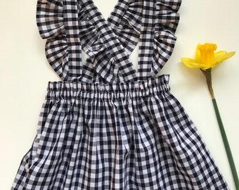 Girls gingham ruffle skirt / Girls gingham frilly skirt / Girls gingham frill skirt