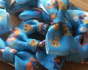 Bubble guppies hair bow clips