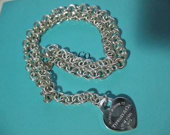 Genuine vintage Tiffany & Co RTT necklace - sterling silver