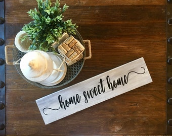 "Customized Wooden Sign ""Home Sweet Home"""