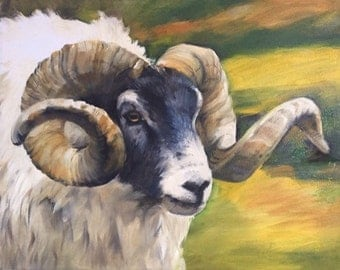 Ram Painting - Original Acrylic Painting - Fine art