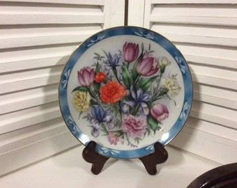 Danbury Mint Bouquets of the World (Limited Edition) Plate - The Flowers of Holland, Collectible Plates