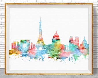 Paris Decor, Paris Print, Paris Skyline, Paris France, Paris Poster, Paris Art Print, Paris Wall Art, Office Poster, ArtPrintZone