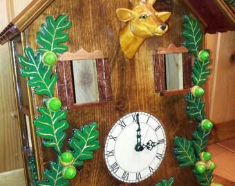 Cuckoo clock inspired style clock in St Humbertus