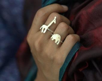 Ellie & Giraffe ring