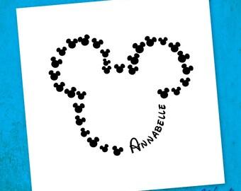 Custom Mickey Disney Sticker - Disney Decal - Personalized Disney Sticker - Mickey Ears - Vacation Sticker - Yeti Tumbler - Laptop