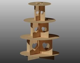 4 niveaux Cupcake Stand vecteur pour Laser découpe CNC, téléchargement immédiat