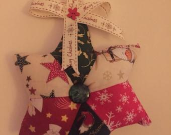 Christmas patchwork star