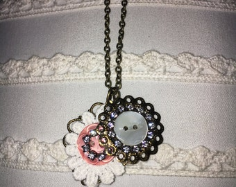 Pushin' My Buttons Necklace :)