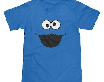 Sesame Street Cookie Monster Face Shirt Available in Adult & Youth Sizes