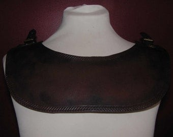 Brown Leather Mantle Armour, LARP, Role Playing