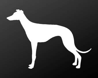 Greyhound Vinyl Decal Car Window Laptop Dog Silhouette Sticker