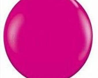 Jumbo  Round 90cm Balloon Wildberry