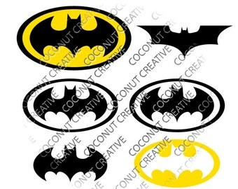 Batman Bat Logo svg dfx jpg jpeg eps layered cut cutting files cricut silhouette die cut decal vinyl