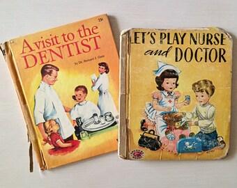 Vintage Children's Books - 1950's - Ephemera - Scrapbooking