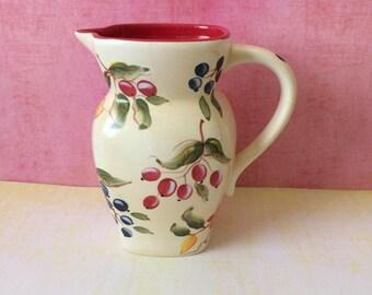 FTD Ceramic Hand Painted Pitcher /Vase