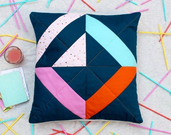 SHIP AHOI! No.1 Stylish Geometric Quilted Pillow