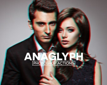 3D Red/Cyan Anaglyph Photoshop Actions