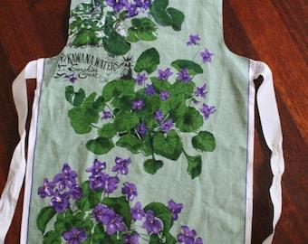 Violets Vintage Apron