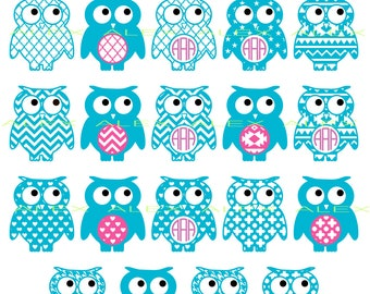 70% OFF, Owl Svg Files, Owls Monogram, Monogram Owl Cut Out, Monogram Owl SVG, Dxf, Ai,Eps,Png, Owl SVG, Owls Svg Cut Files