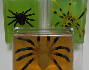 Kids Critter Soap - spiders - insects - snakes - glycerin - toy in soap - kids gift - childs gift - birthday