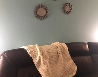 Crocheted cozy blanket