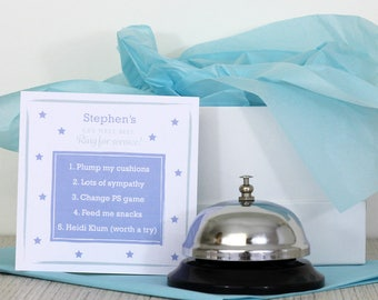 Personalised Get Well Bell (Male) - Ring for service