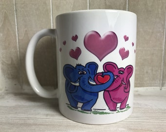 Elephants - I will never forget the moment we fell in LOVE - Valentines/ Anniversary Mug