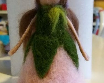 needle felted spring fairy