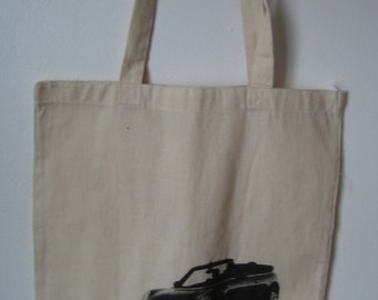 Mini Cooper Tote Bag, Reusable and Washable, Shopping and Book bag, Eco Friendly