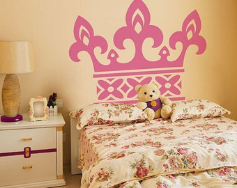 Princess Crown Wall Decor Princess Crown Wall Decals For Girls Crown Vinyl Stickers Home Nursery Decor