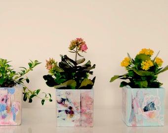 Art Deco Planter Pots with Plant!