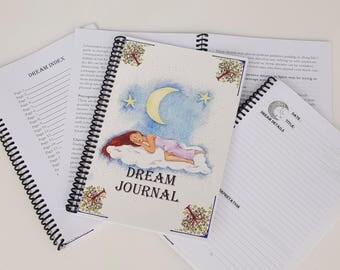 Dream Journal / Dream Diary / Dream Notebook / Dreams / Book Of Dreams / Dreaming / Record Your Dreams /  Handmade Dream Journal