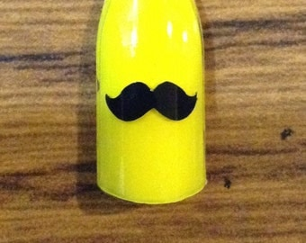 Mustache Nail Decal