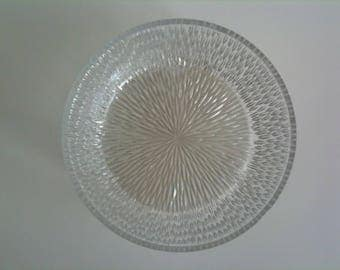 Beautiful glass bowl, mouth-blown, vintage 60s, mid-century