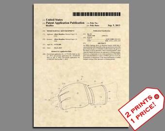 Patent Prints - Mixed Martial Arts MMA Gloves Patent Art - Vintage UFC Ultimate Fighting Gloves Wall Art - Jiu Jitsu Patent Print- 492