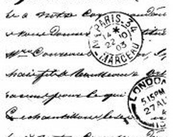Crafty Individual Postscript Rubber stamp 60 x 60 mm