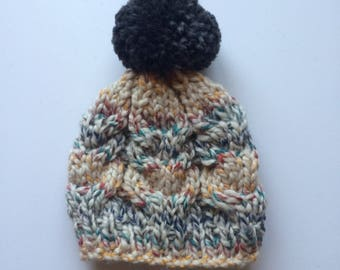 Hudson Bay Cable Knit Hat